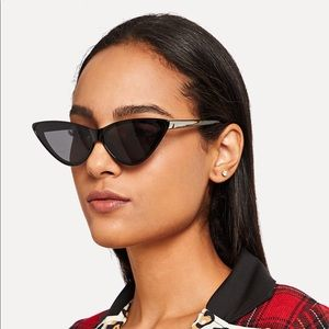 Accessories - Blogger style Flat Lens Cat Eye Sunglasses